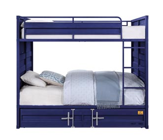 Image for Cargo Blue Full/Full Bunk Bed (No Trundle)