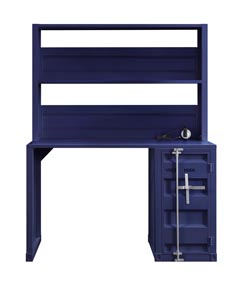 Cargo Blue Desk and Hutch