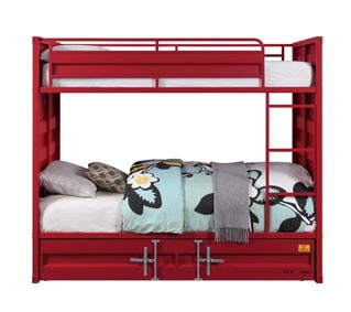 Image for Cargo Red Twin/Twin Bunk Bed (No Trundle)