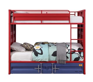 Image for Cargo Blue Full/Full Bunk Bed W/ Trundle