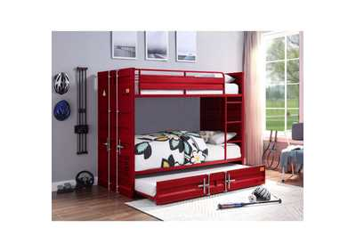Image for Cargo Red Twin/Twin Bunk Bed W/ Trundle