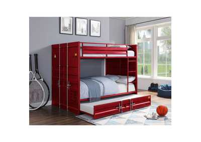 Image for Cargo Red Full/Full Bunk Bed W/ Trundle