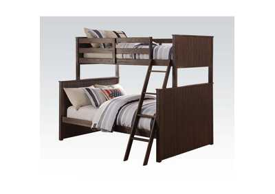 Hector Antique Charcoal Brown Twin/Full Bunk Bed