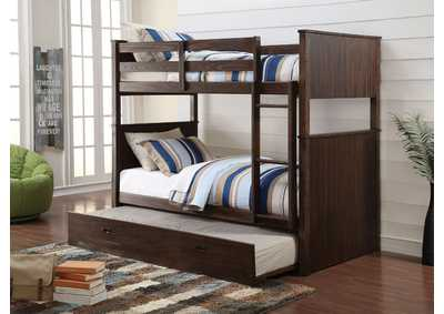 Hector Antique Charcoal Brown Twin/Twin Bunk Bed