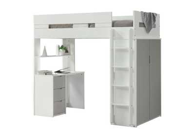Nerice White/Gray Loft Bed
