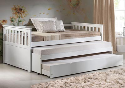 Cominia White Daybed w/Trundle