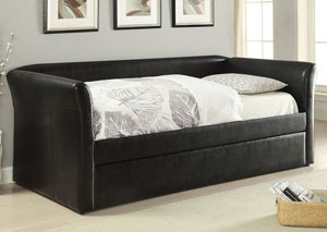 Misthill Black PU Daybed w/Trundle