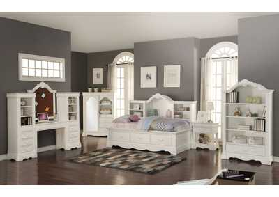 Estrella White Day Storage Bed
