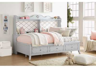 Edalene Light Gray Full Daybed