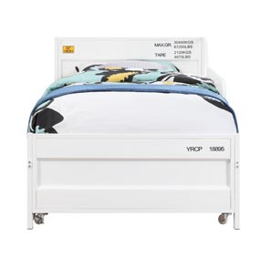 Cargo White Twin Daybed and Trundle