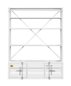 Cargo White Bookshelf and Ladder
