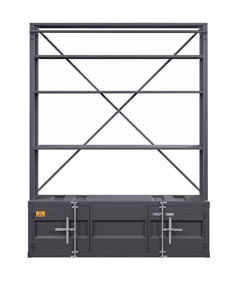 Image for Cargo Gunmetal Bookshelf and Ladder