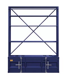 Cargo Blue Bookshelf and Ladder