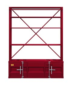 Cargo Red Bookshelf and Ladder