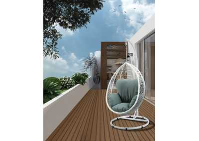 Simona White Patio Swing Chair