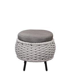 Egil Gray Patio Ottoman