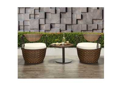 Eskil Two-Tone Brown 3 Piece Patio Set