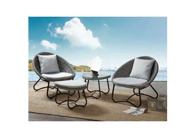 Elof Two-Tone Gray 4 Piece Patio Set