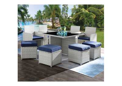 Paitalyi Blue 9 Piece Patio Set