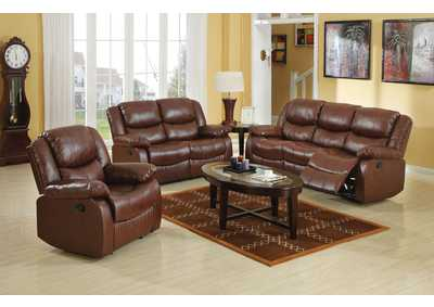 Fullerton Brown Reclining Loveseat