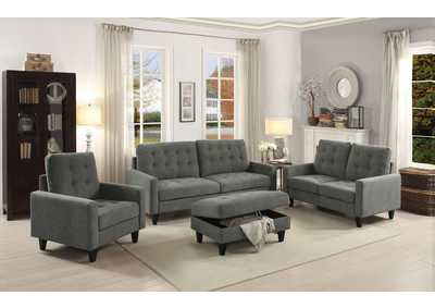 Image for Nate Fuscous Gray Loveseat