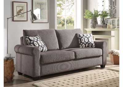 Neveah Gray Sleeper Sofa w/2 Pillow
