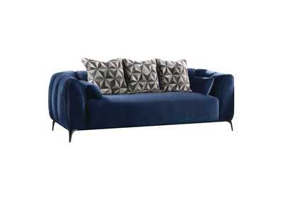 Image for Hellebore Blue Sofa w/5 Pillow