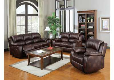 Zanthe Brown Reclining Loveseat