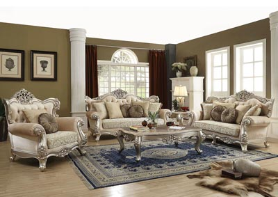 Image for Bently Champagne Sofa w/7 Pillow