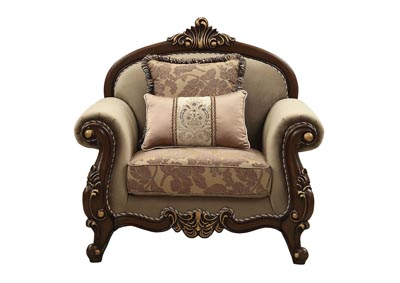 Image for Mehadi Walnut Chair w/2 Pillow