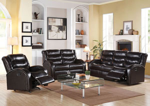 Noah Espresso Bonded Leather Sofa w/Motion