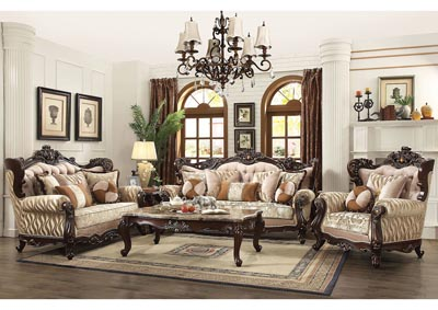 Image for Shalisa Walnut Sofa w/7 Pillow
