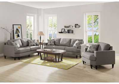 Selma Beige Linen Sofa and Loveseat w/Pillows