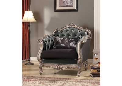 Image for Chantelle Platinum/Gray Chair w/Pillow