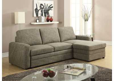 Derwyn Brown Sectional Sleeper Sofa
