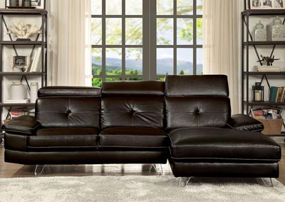 Image for Aeryn Espresso Sectional Sofa