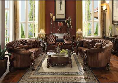 Image for Versailles Brown/Cherry Oak Sofa w/5 Pillow