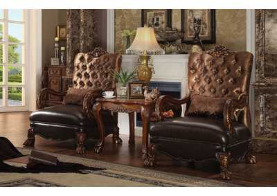 Image for Dresden Golden Brown/Cherry Oak Chair w/1 Pillow