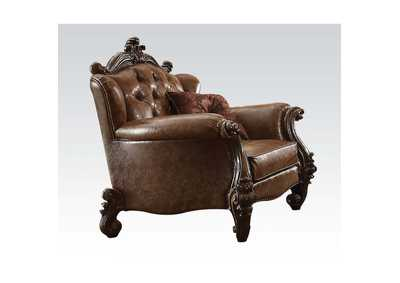 Image for Versailles Two-Tone Brown/Cherry Oak Chair w/2 Pillow