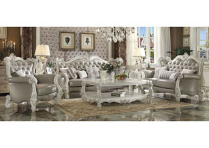 Image for Versailles Vintage Gray/Bone White Sofa w/7 Pillow