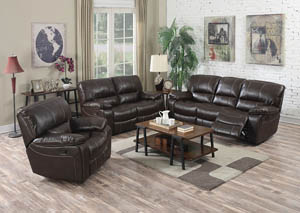 Kimberly Brown LeatherAire Reclining Motion Sofa