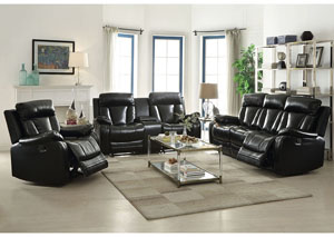 Isidro Black LeatherAire Reclining Motion Sofa