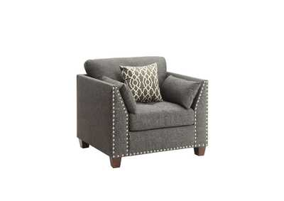 Image for Laurissa Charcoal Chair w/3 Pillow