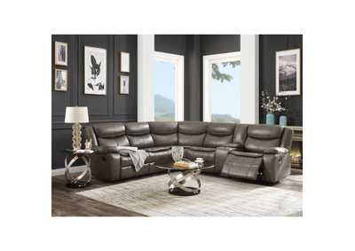 Image for Tavin Taupe Reclining Sectional Sofa