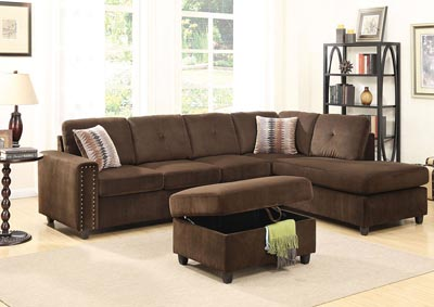 Image for Belville Chocolate Ottoman