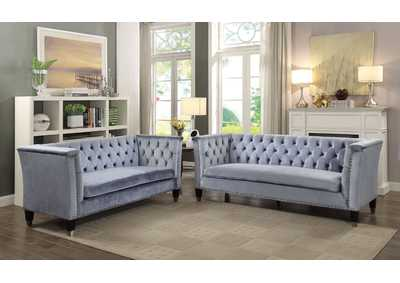 Image for Honor Blue/Gray Loveseat