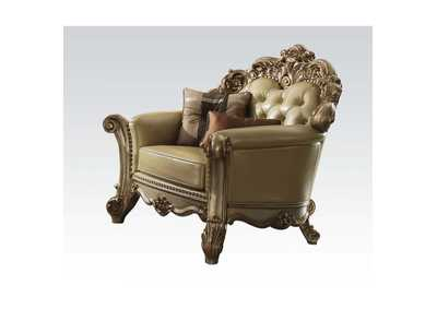 Vendome Bone/Gold Patina Chair w/2 Pillow