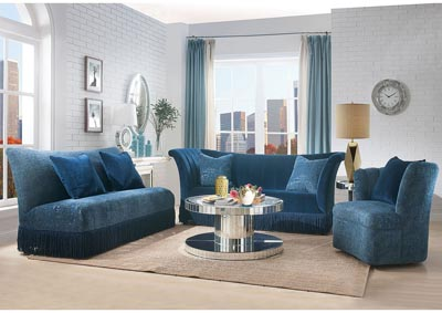 Image for Kaffir Blue Loveseat w/2 Pillow