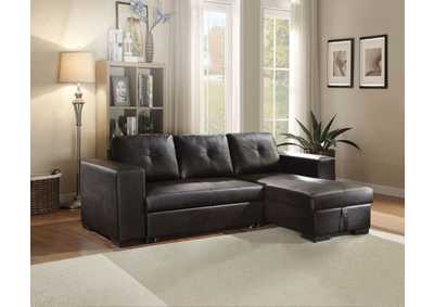 Image for Lloyd Black Sectional Sleeper Sofa