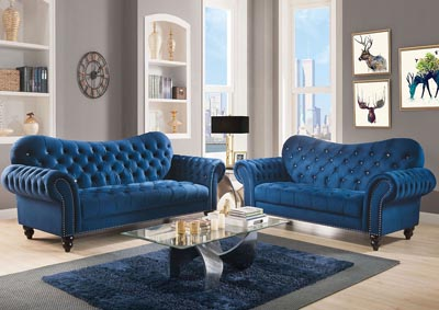 Image for Iberis Navy Blue Sofa and Loveseat
